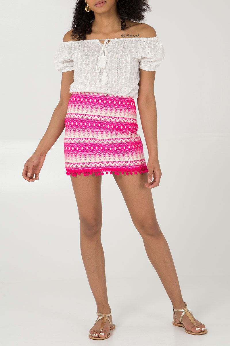 Tapestry Mini Skirt