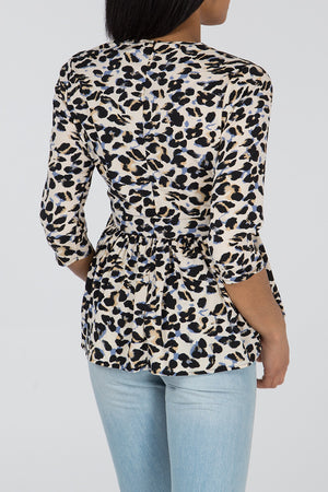 Peplum Button Through Blouse