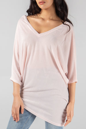Double V Asymmetric Hem Top
