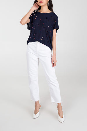 High Low Pearl Top