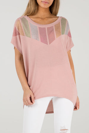 Diamante Chevron Top