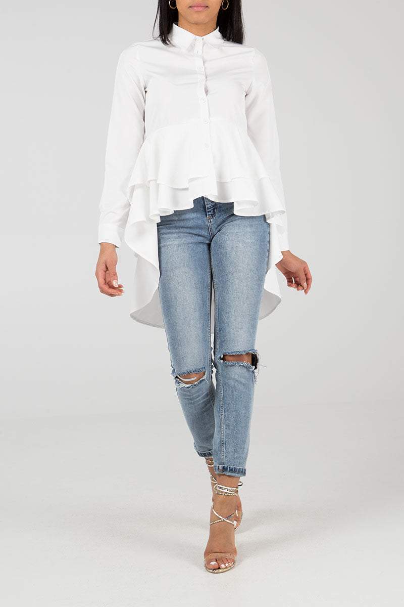 Ruffle Layered Blouse