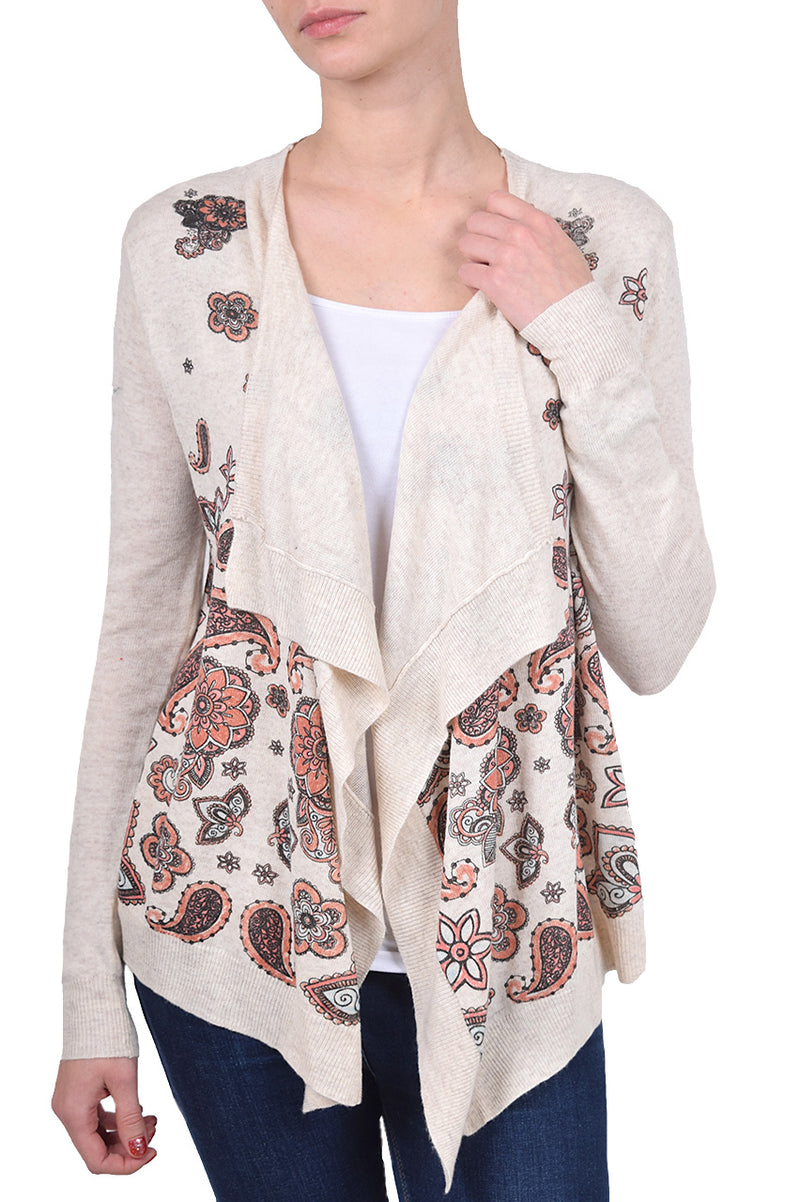 Paisley Rain Waterfall Cardigan