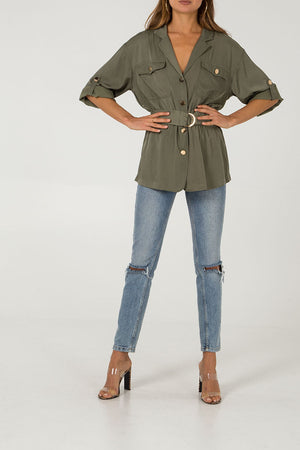 Tunic Shirt With Belt