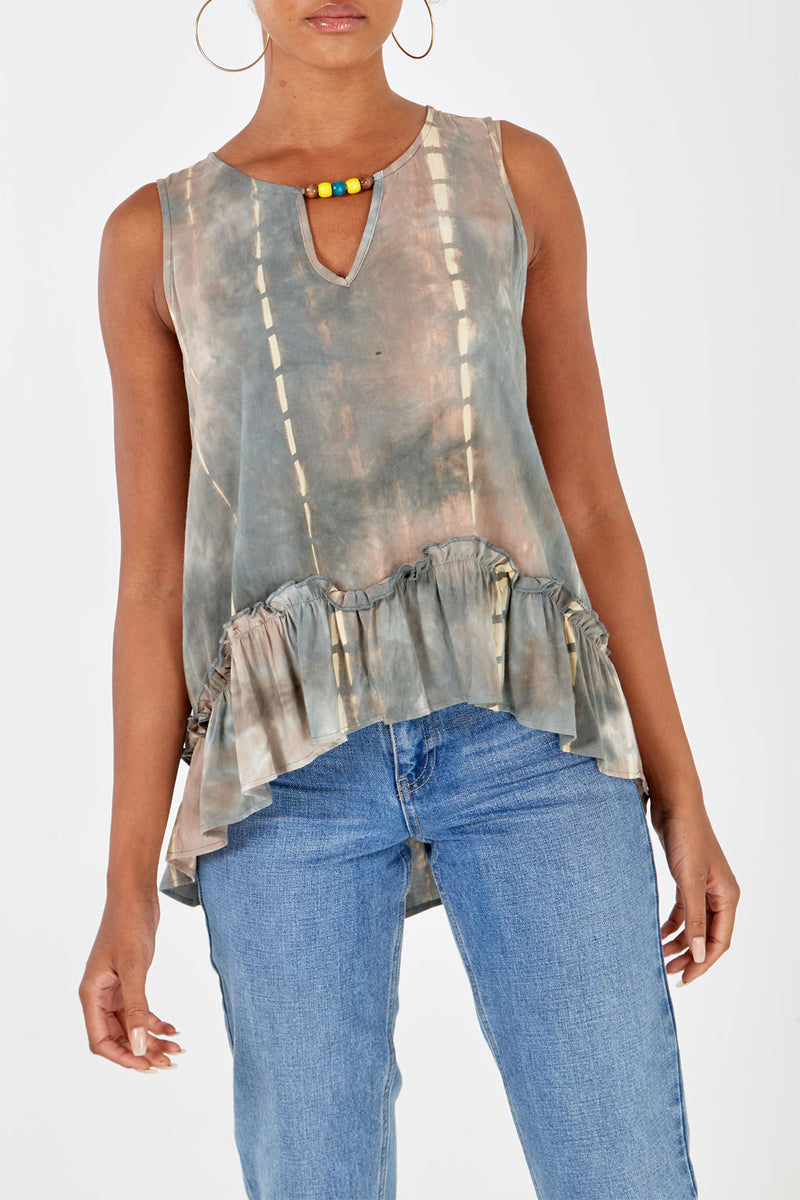 Tie Dye Sleeveless Top