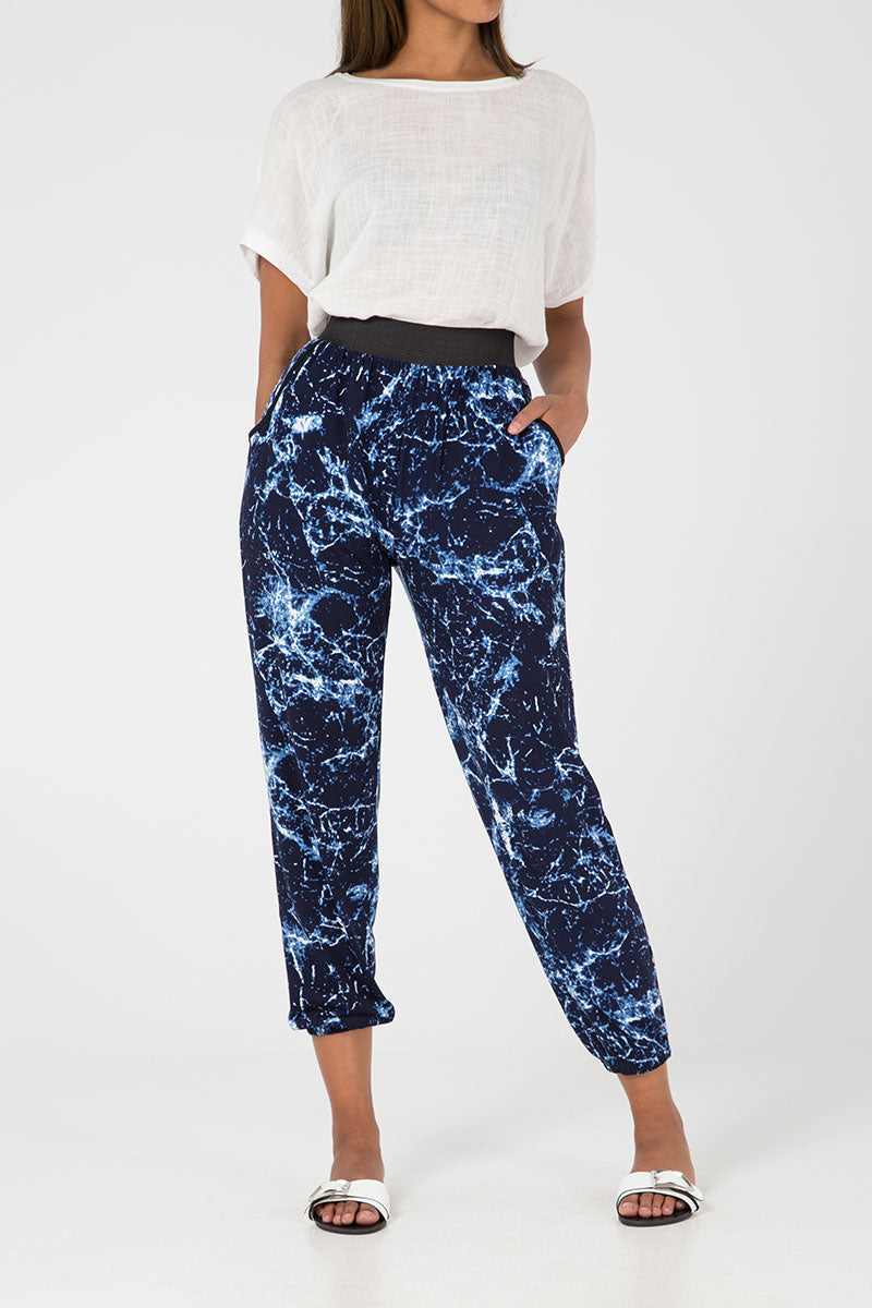 Abstract Print Soft Touch Jogger