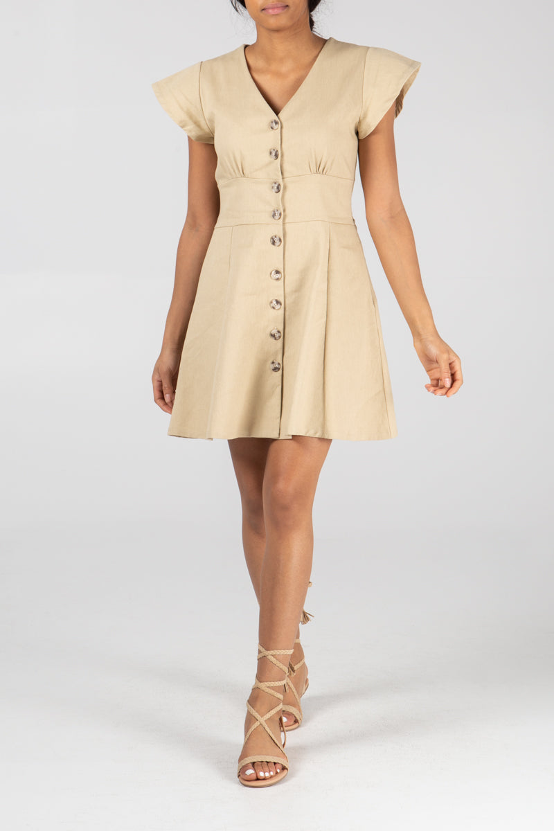 Button Front Tea Dress