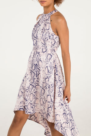 Halter Neck High Low Dress