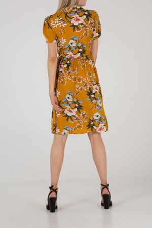 Button Through Floral Dress