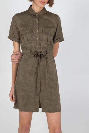 Button Through Shirt Dress