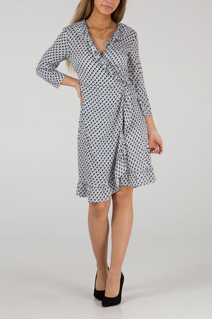 Frill Front Wrap Dress