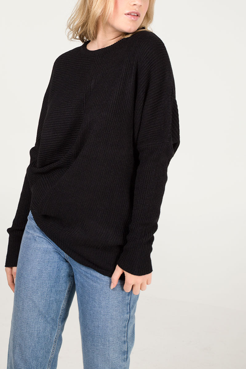 Oversized Asymmetric Batwing Jumper