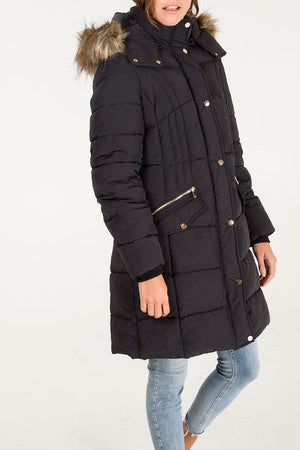 Quilted Long Puffer Jacket