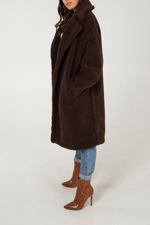 Oversized Borg Teddy Coat