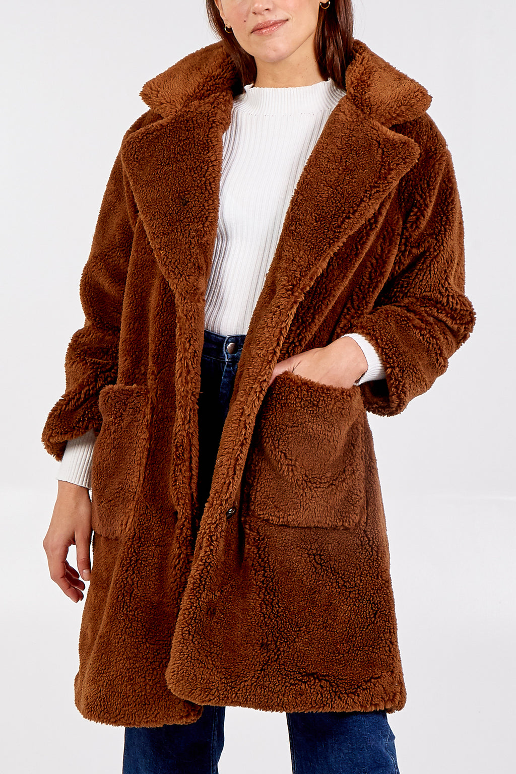 Patch Pocket Teddy Coat