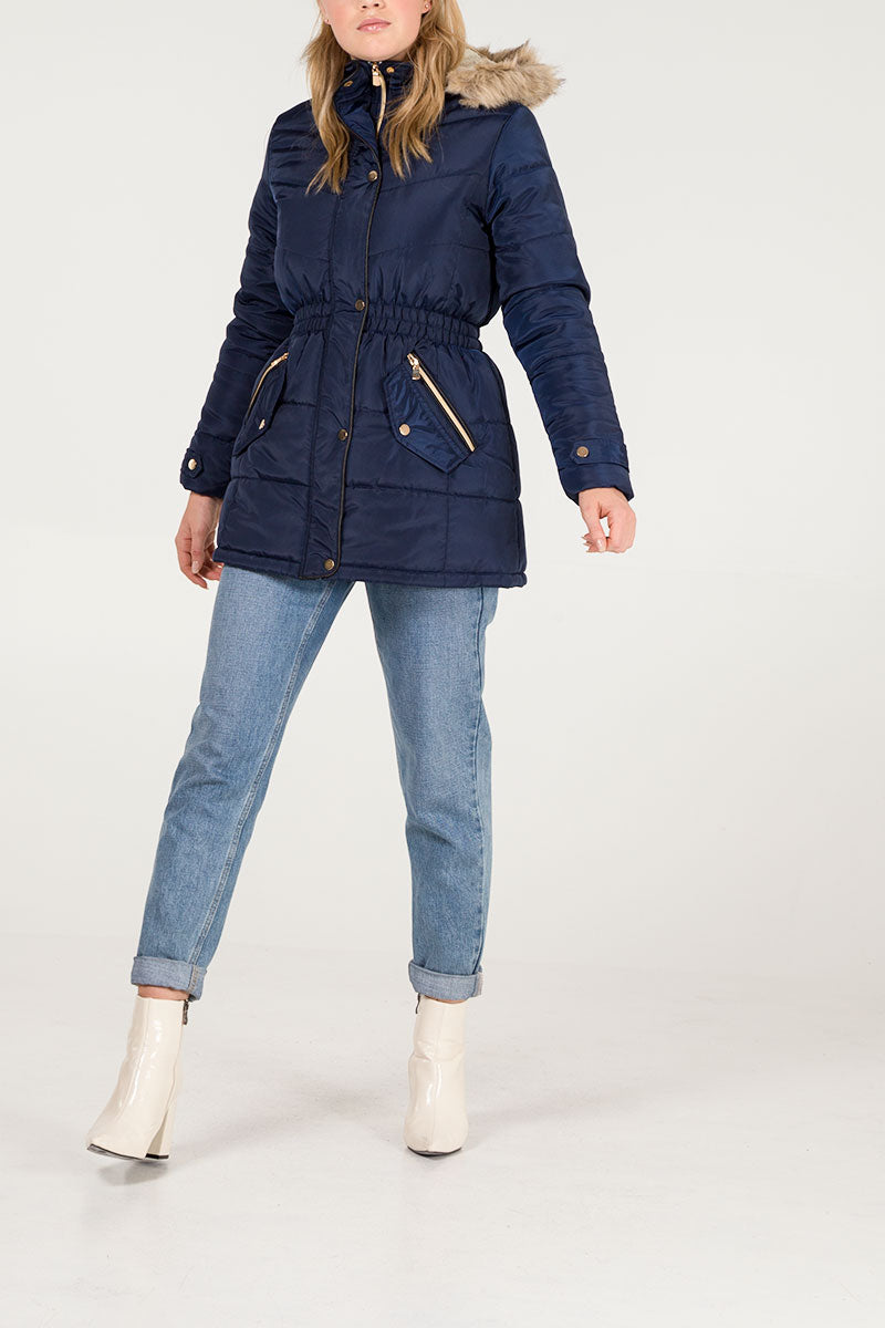 Elasticated Waist Puffer Jacket