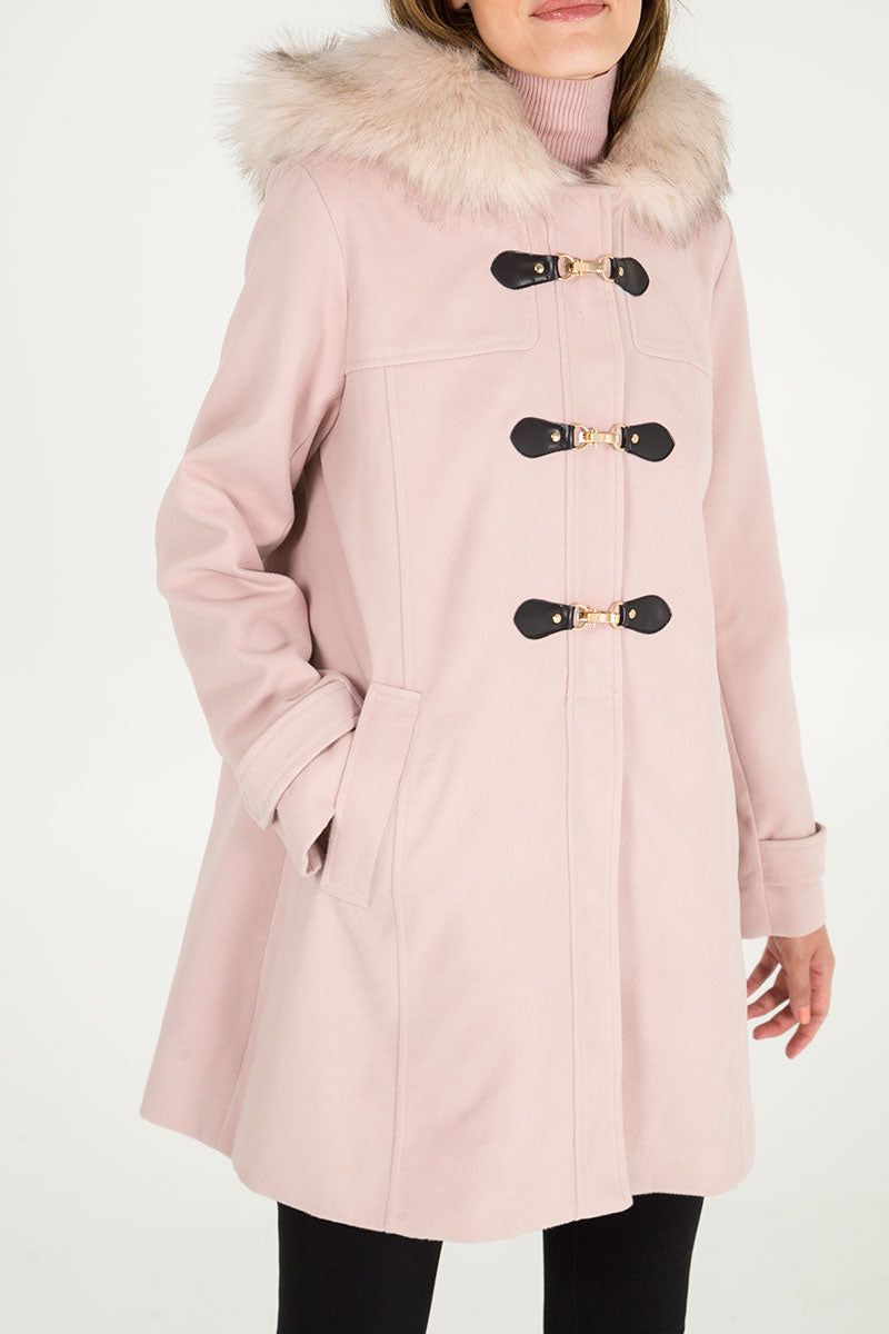 Clasp Front Duffle Coat