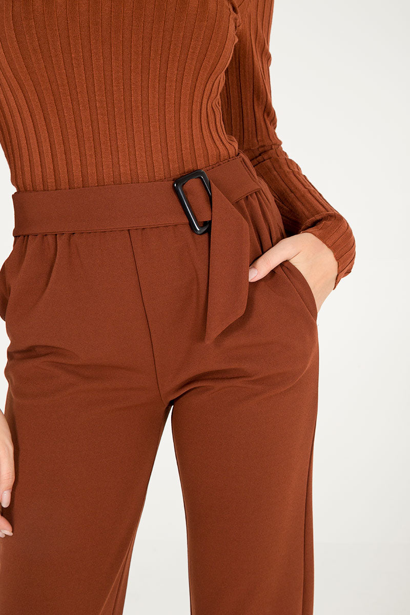 Buckle Detail Trousers