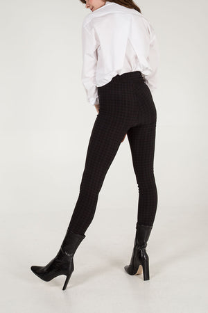 Check Zip Detail Trousers