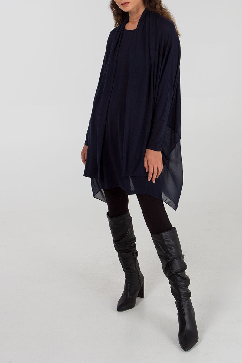 Oversized Tunic With Scarf