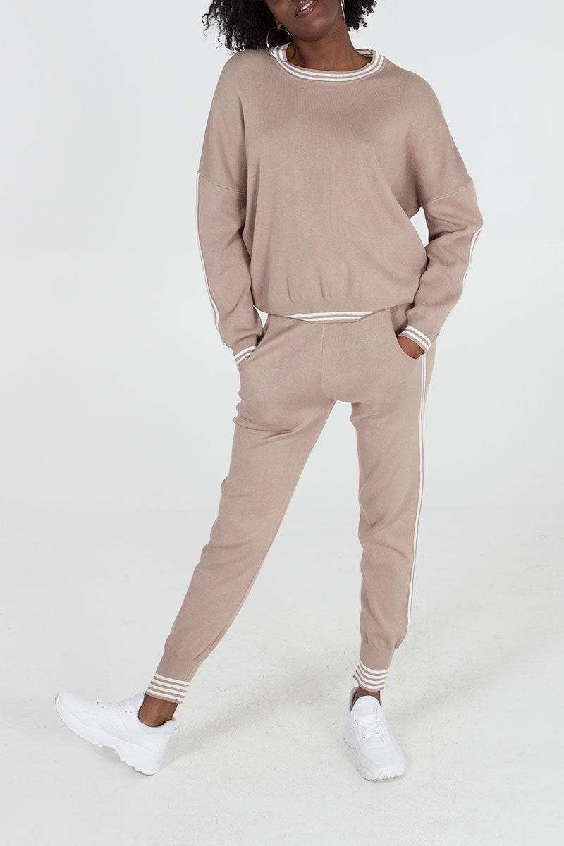 Stripe Jumper & Jogger Set