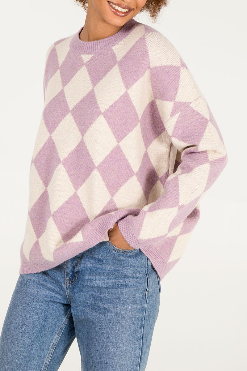 Diamond Check Jumper