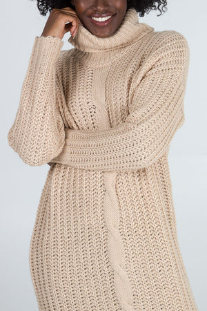 Chunky Cable Knit Jumper Dress