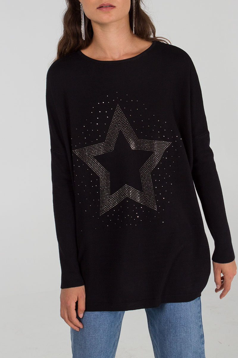 Embellished Star Batwing Tunic