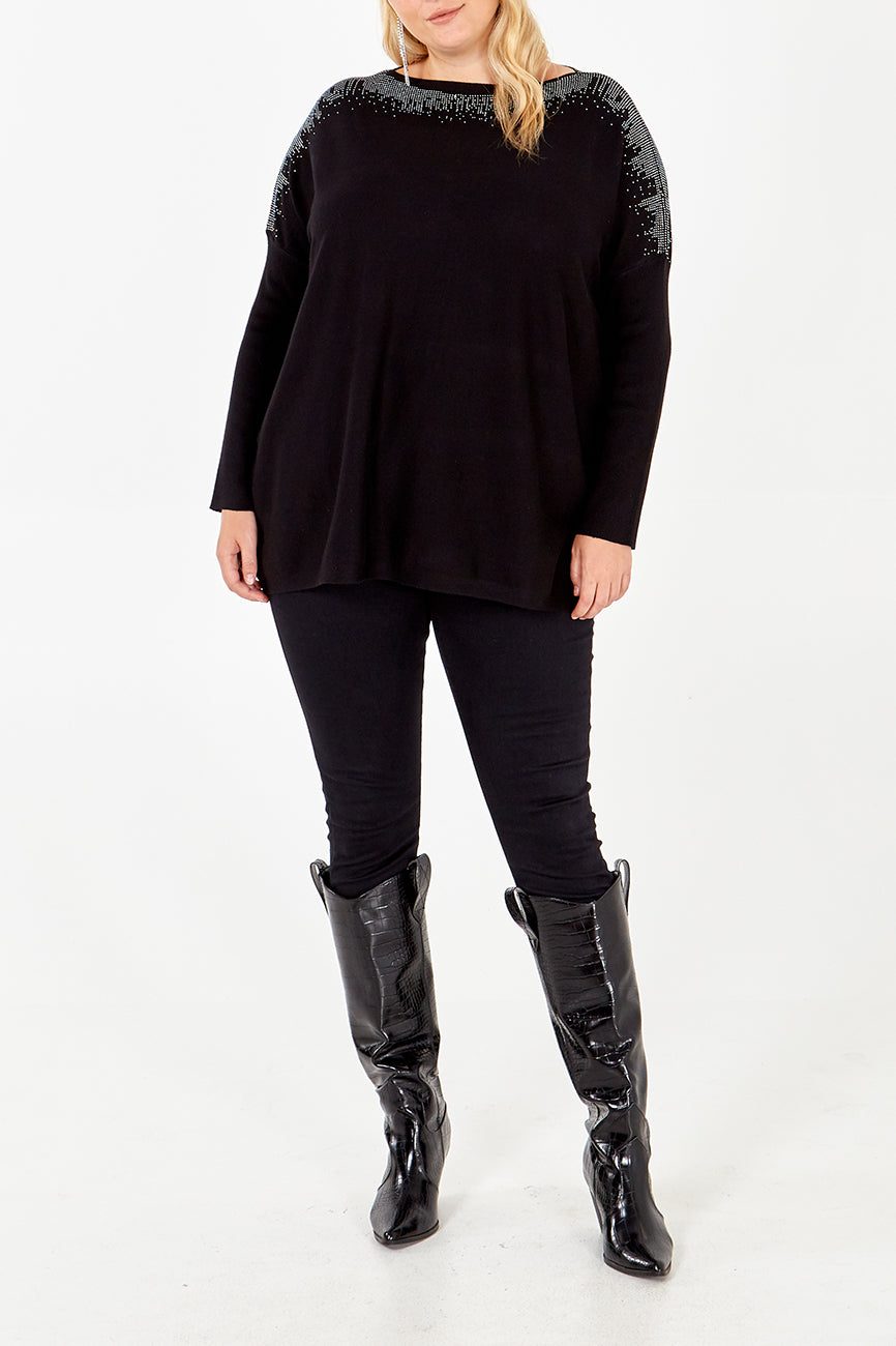 Curve - Gem Shoulder Oversized Jumper