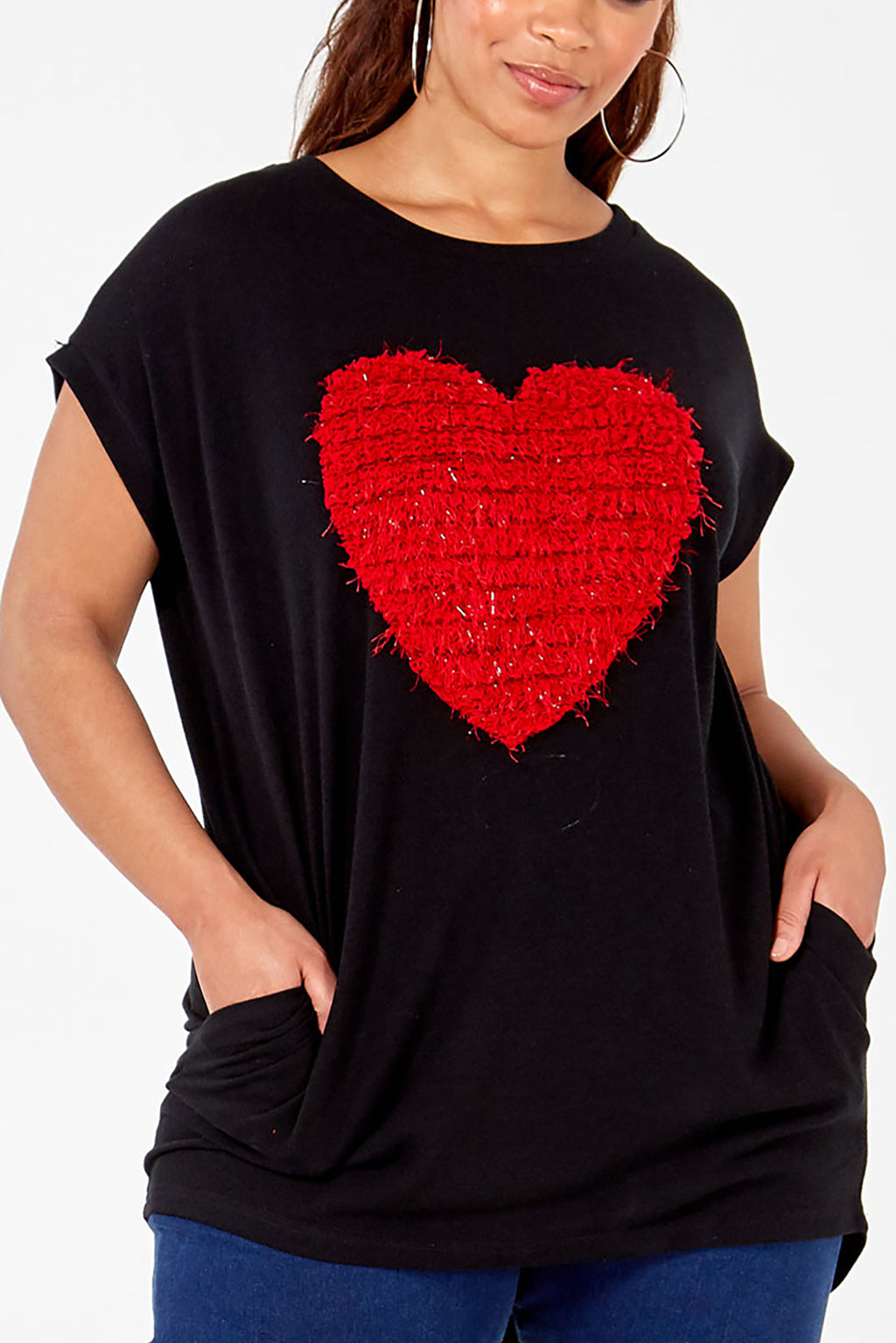 Curve - Textured Heart Top