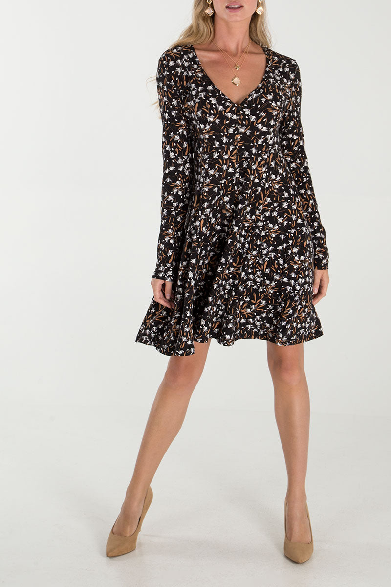 Floral Button Front Dress
