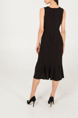 Low Cut Fishtail Midi Dress