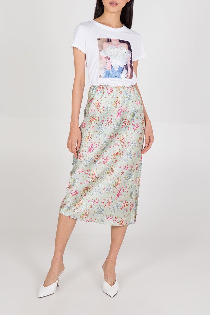 Printed Slip Skirt
