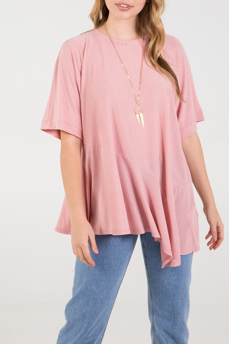 Asymmetric Hem Over-sized Top