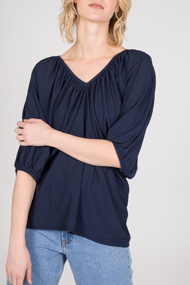 Bar Back V-Neck Batwing Top