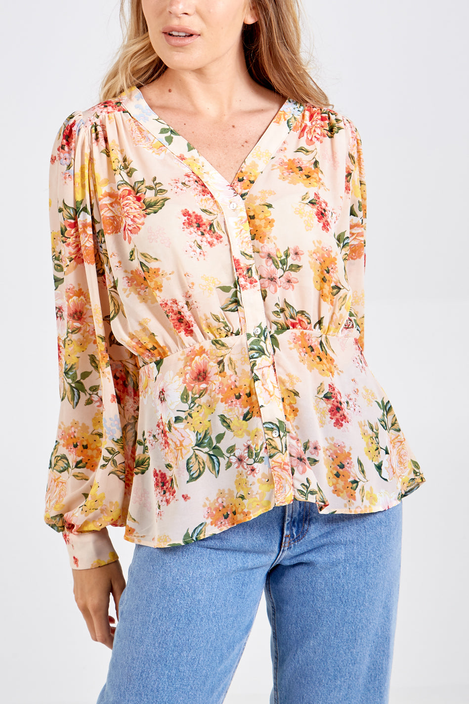 Gathered Details Blouse