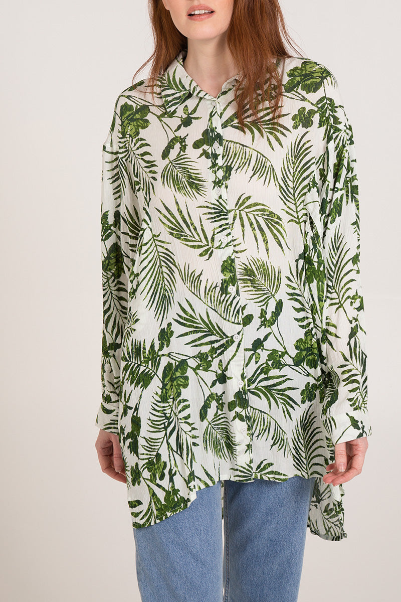 Oversized Button Front Shirt