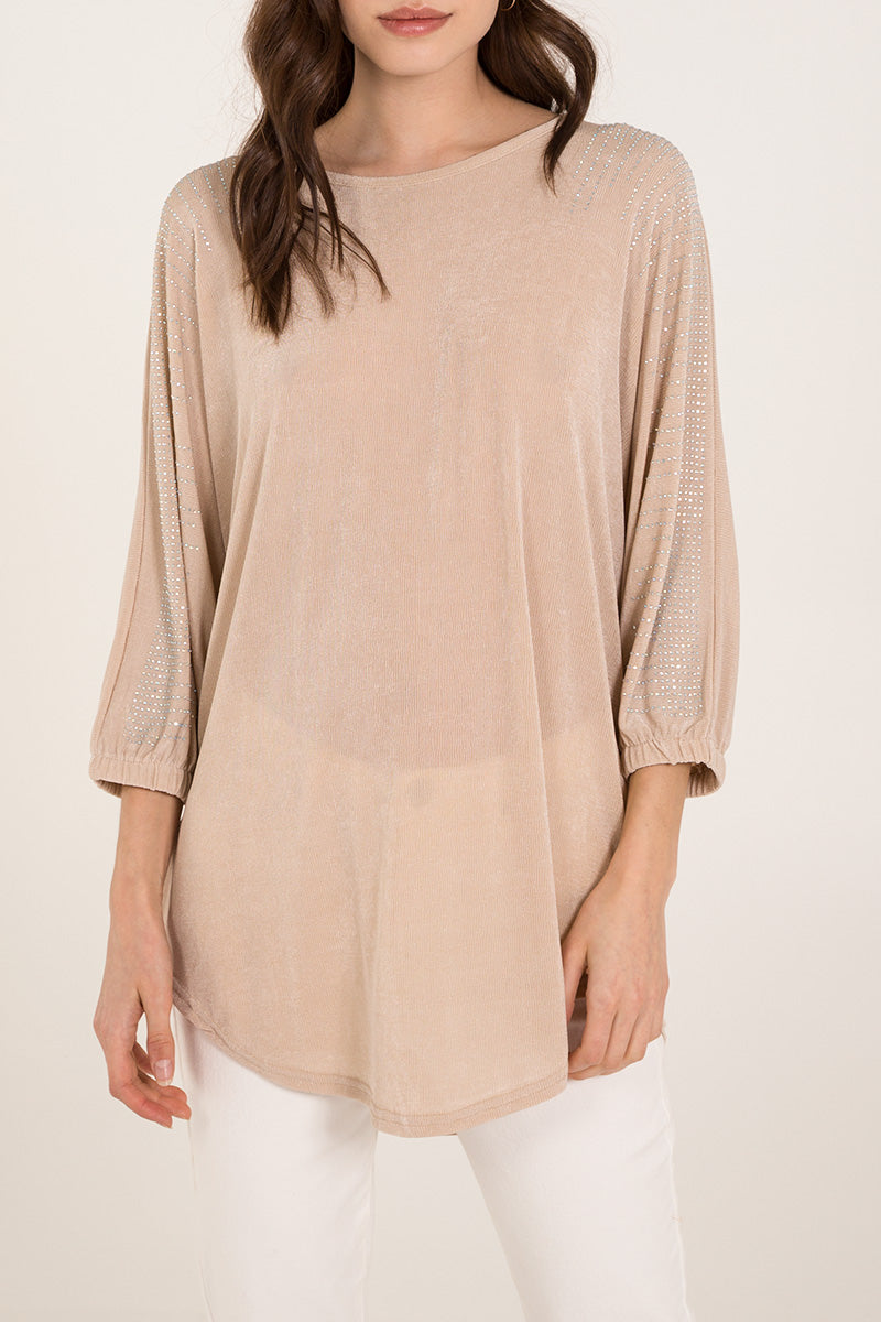Diamante Batwing Top