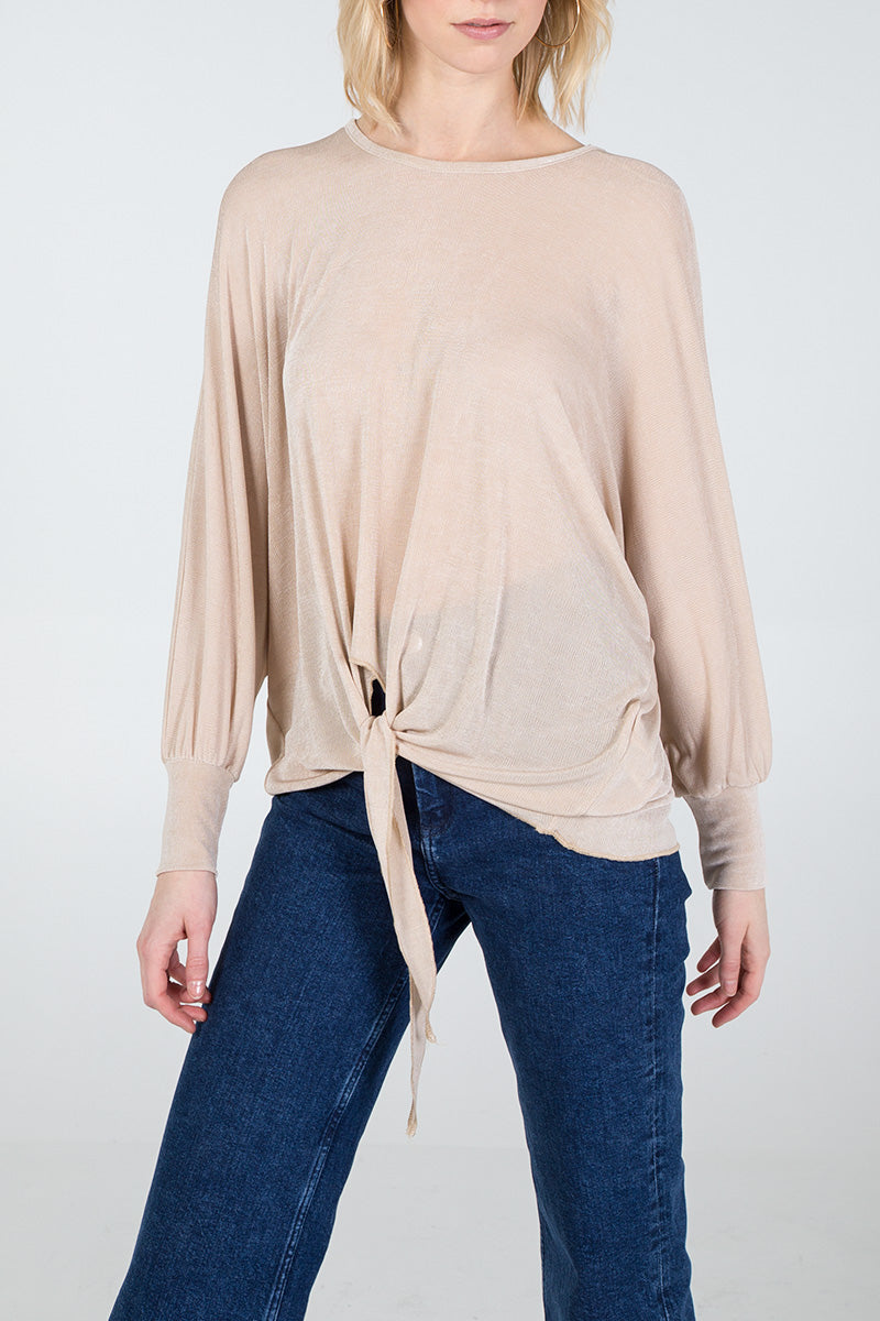 Oversized Knot Front Top