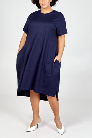Curve - Two Pocket Balloon T-Shirt Dress