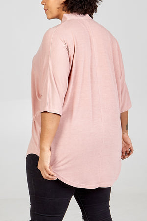 Curve - Button Front Oversized Top