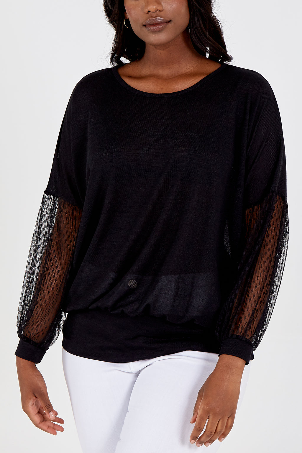 Curve - Batwing Lace Top