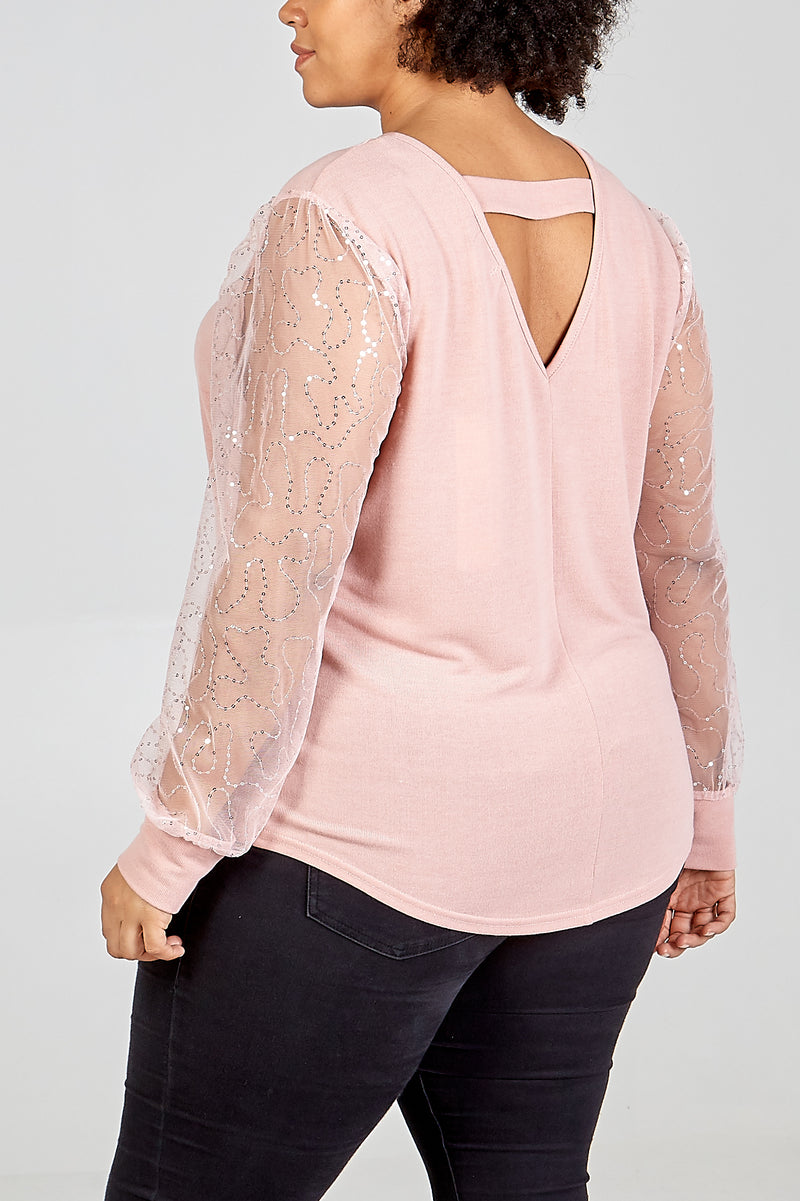 Curve - Bar Back Balloon Sleeve Top