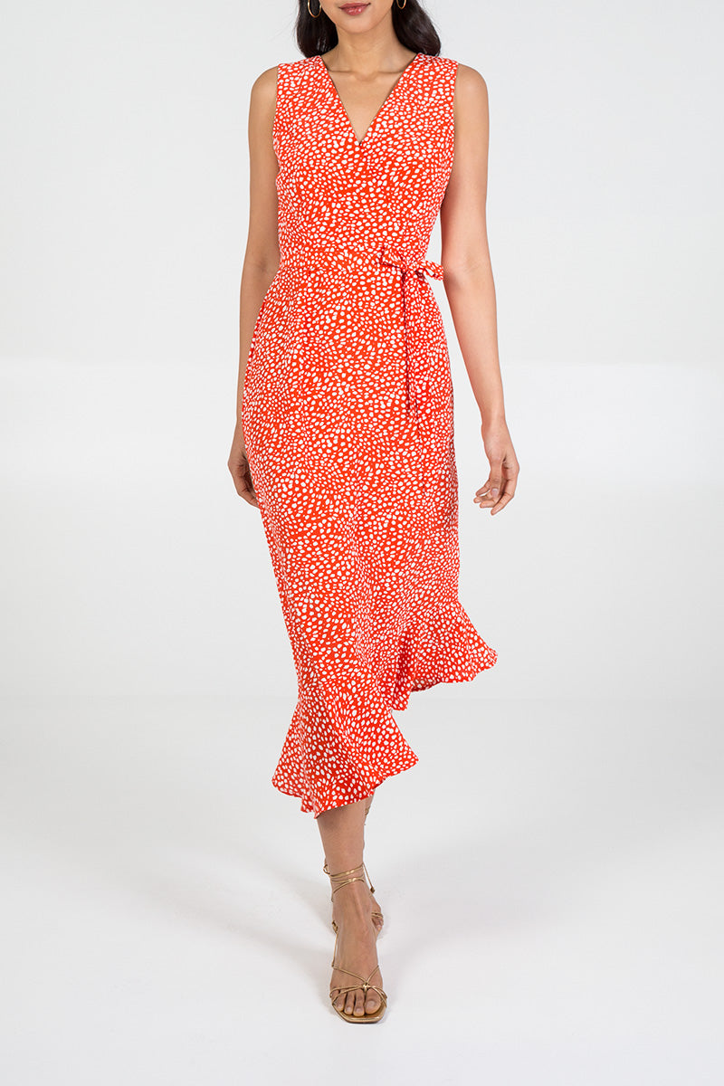 Asymmetric Hem Maxi Dress
