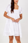 Square Neck Smock Dress