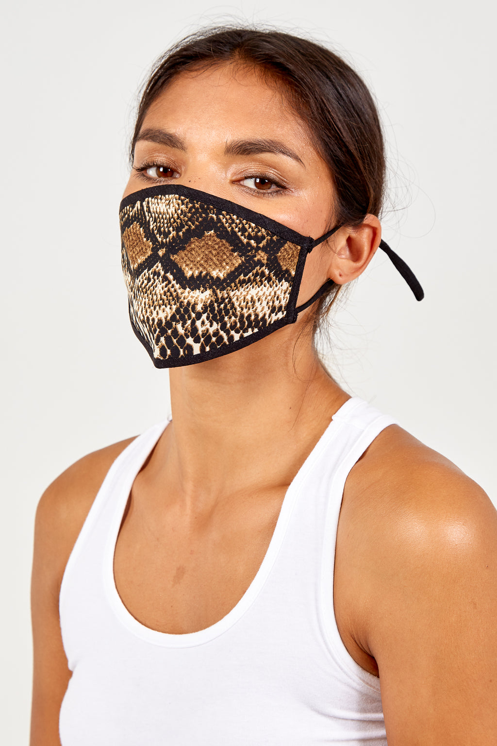 Reversible Snake Print Fashion Mask