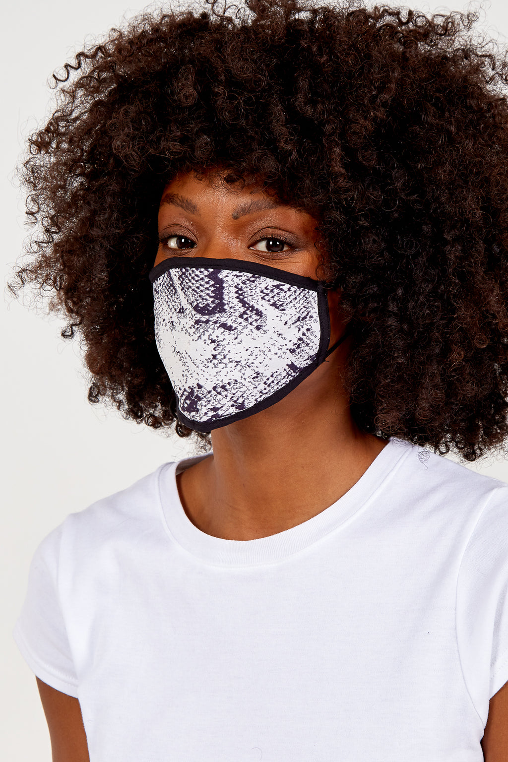 Snake Print Fashion Mask
