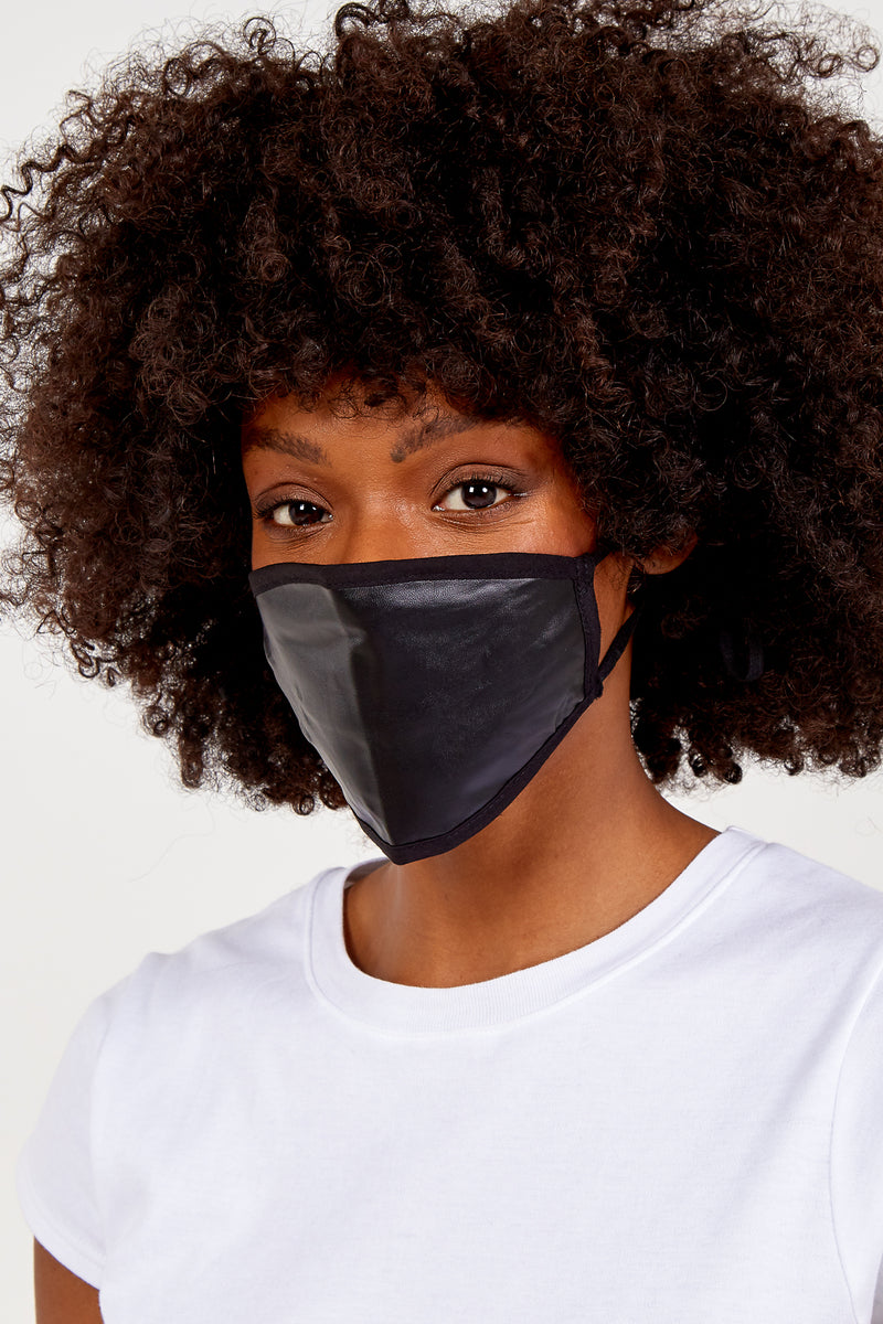 Plain Black Fashion Mask