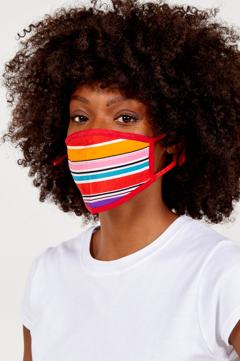 Multicolour Stripes Fashion Mask