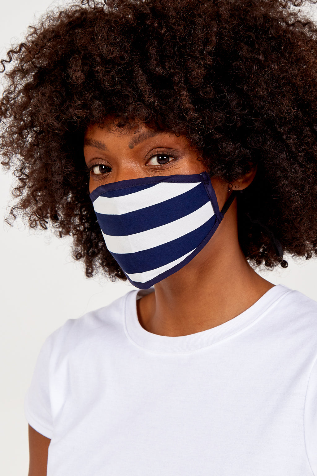 Stripe Print Fashion Mask